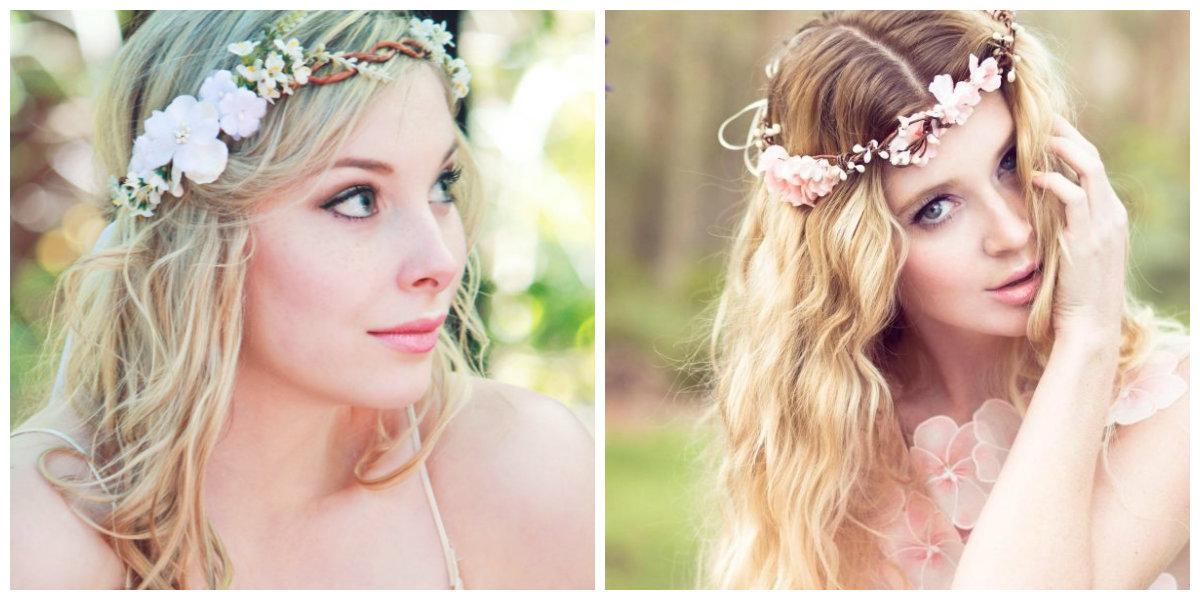 penteados para noivas, penteado decorado com flores