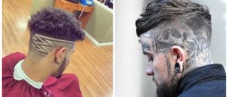 tatuagem de cabelo, arte de cabelo