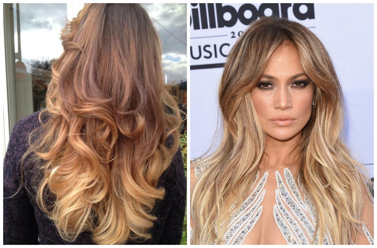 tendência de cor de cabelo, cabelo Shatush, blond