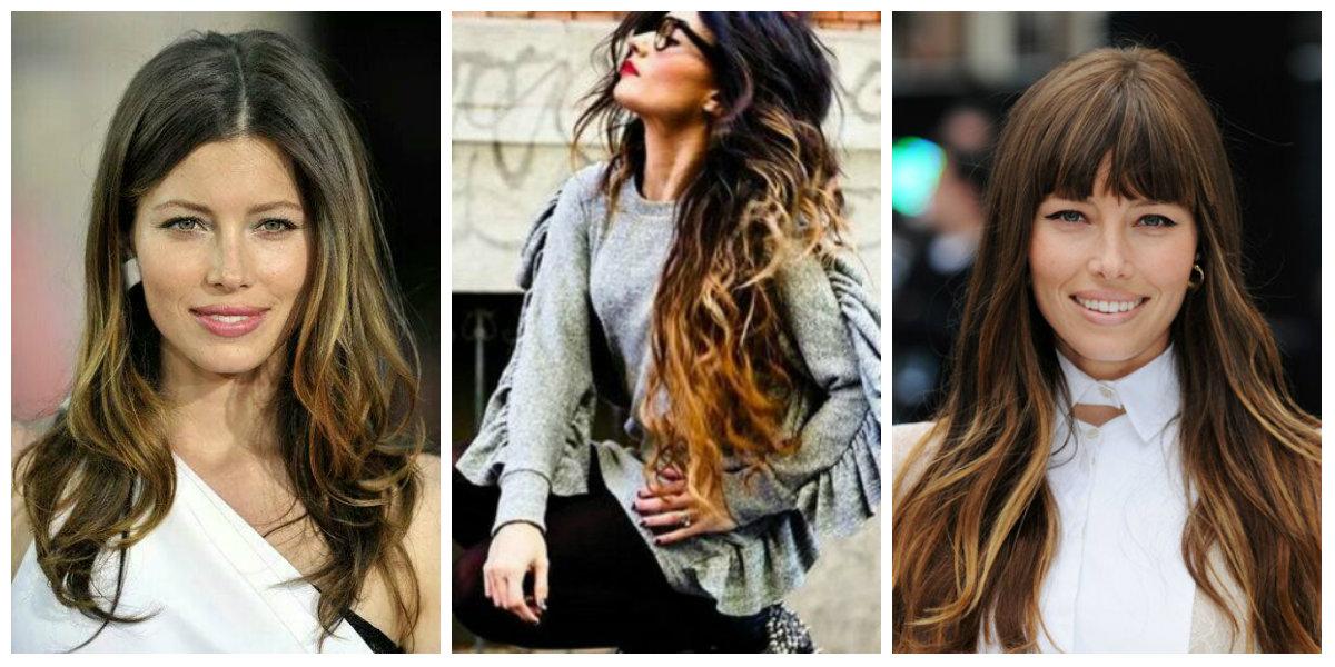 tendências de cor de cabelo, cabelo shatush castanho ensolado