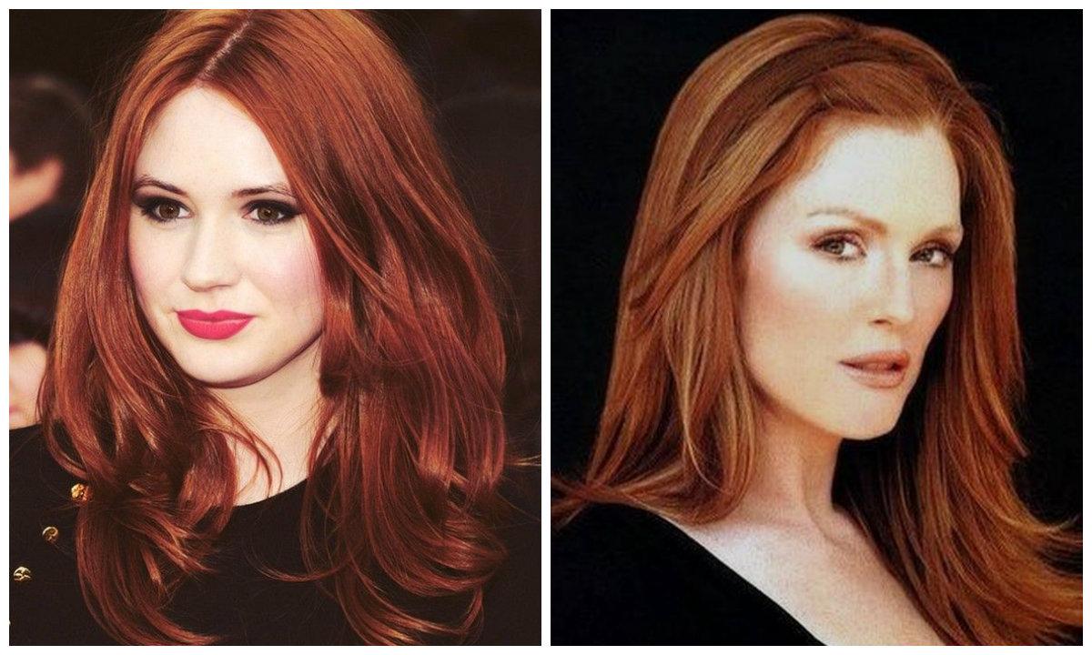tons de cabelo vermelho, diferentes matizes de cabelo vermelho