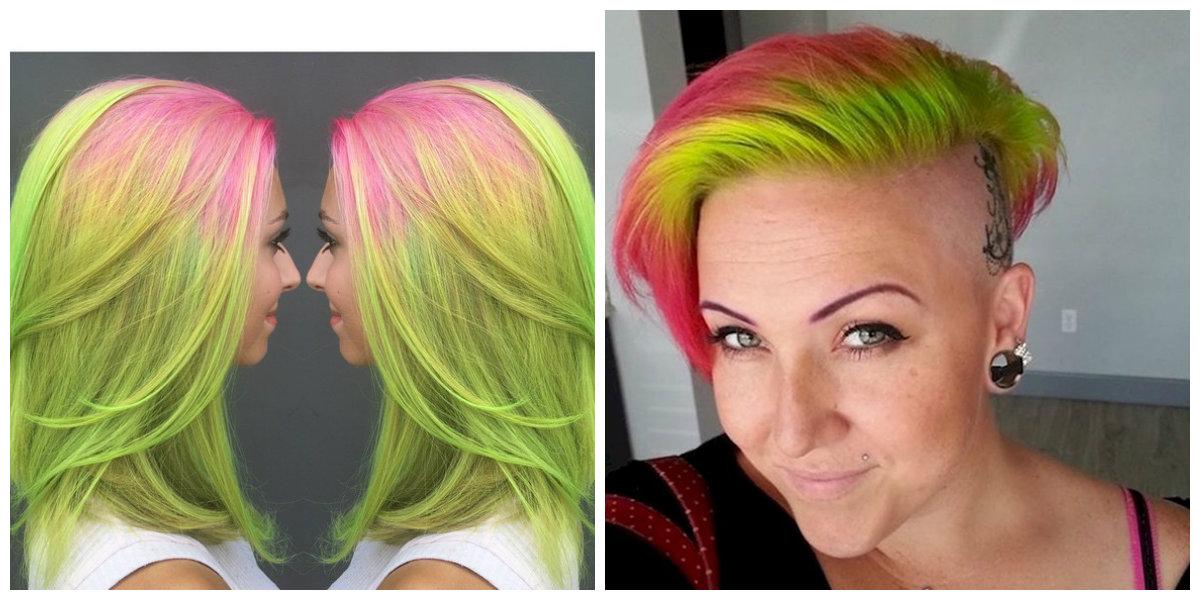 cabelo melancia, cor de cabelo melancia
