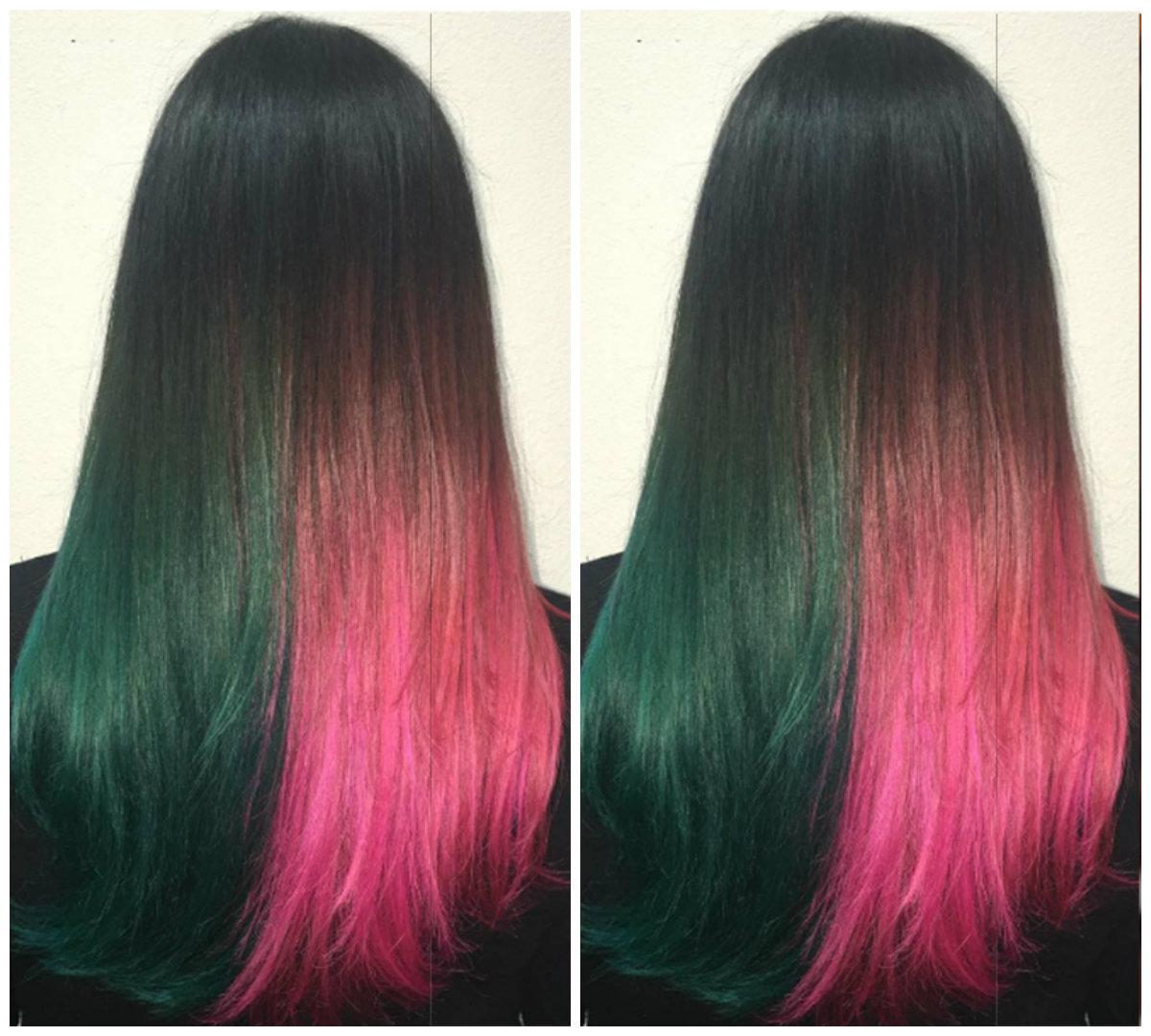 cabelo melancia, divisao de cabelo