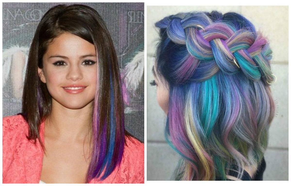 cabelos longos 2019, cores brilhantes
