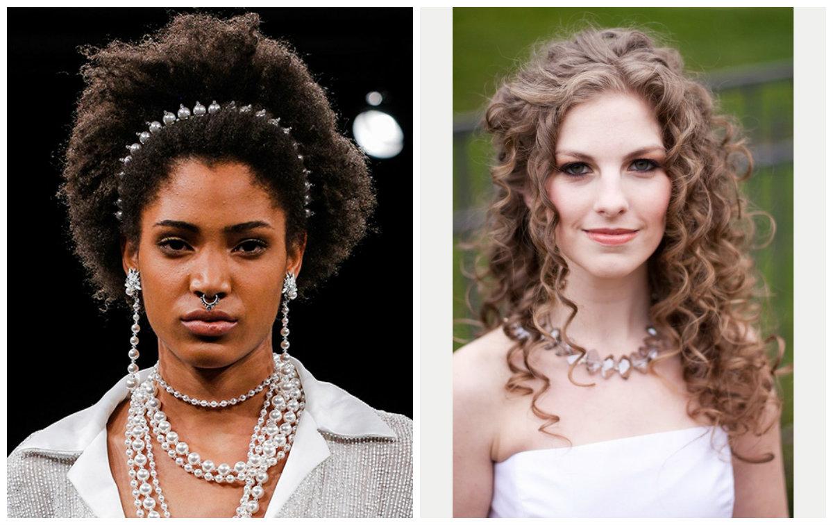 cabelos para casamento 2019, penteados soltos de cabelo cacheado