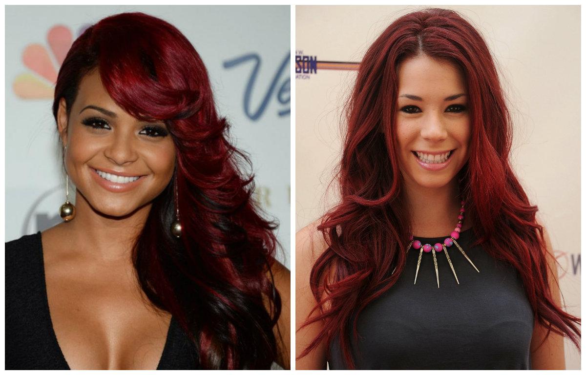 cor de cabelo borgonha, borgonha avermelhada