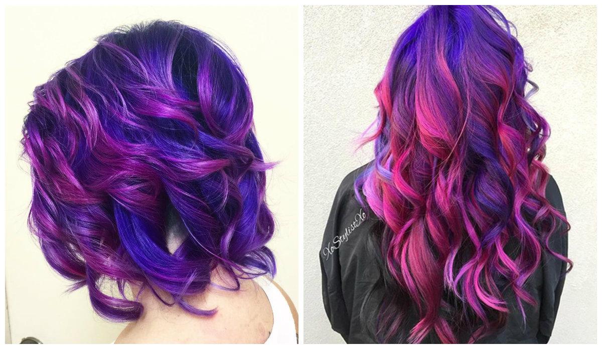 cor de cabelo borgonha, cor de cabelo galaxia