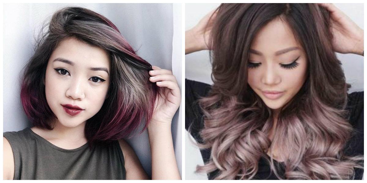 cor de cabelo borgonha, cor de cabelo cinza e vermelho