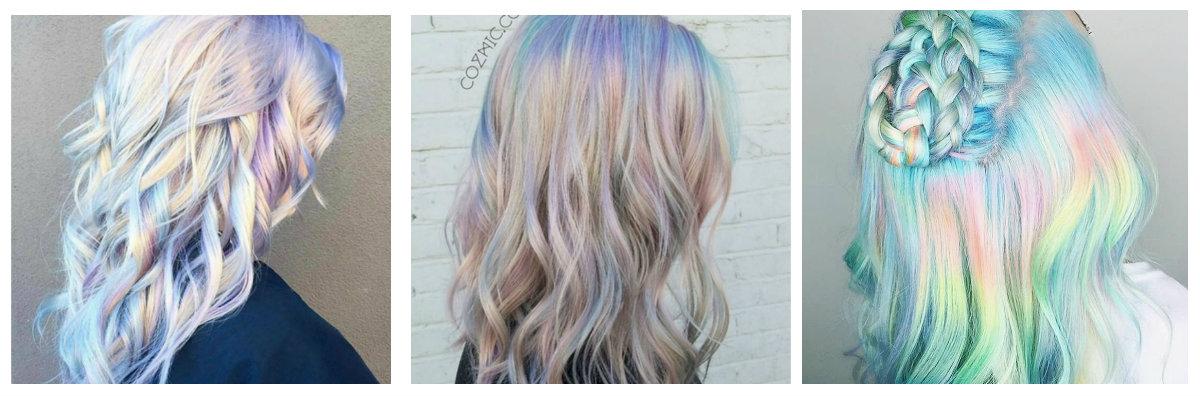 cores de cabelo loiro, cabelo holografico
