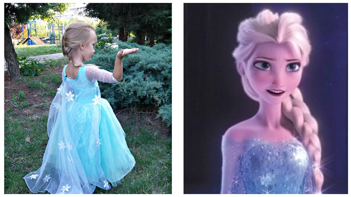corte de cabelo infantil feminino, penteado de Elsa