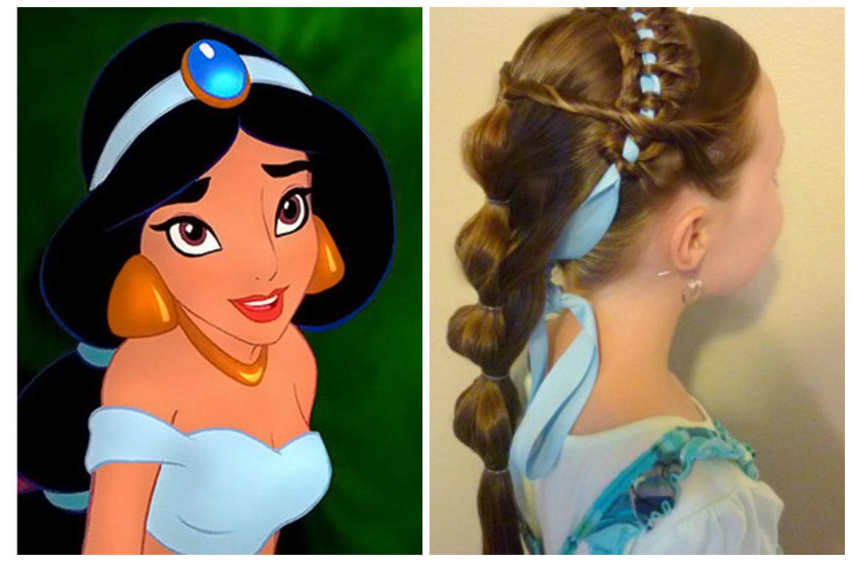 corte de cabelo infantil feminino, penteado de Jasmim