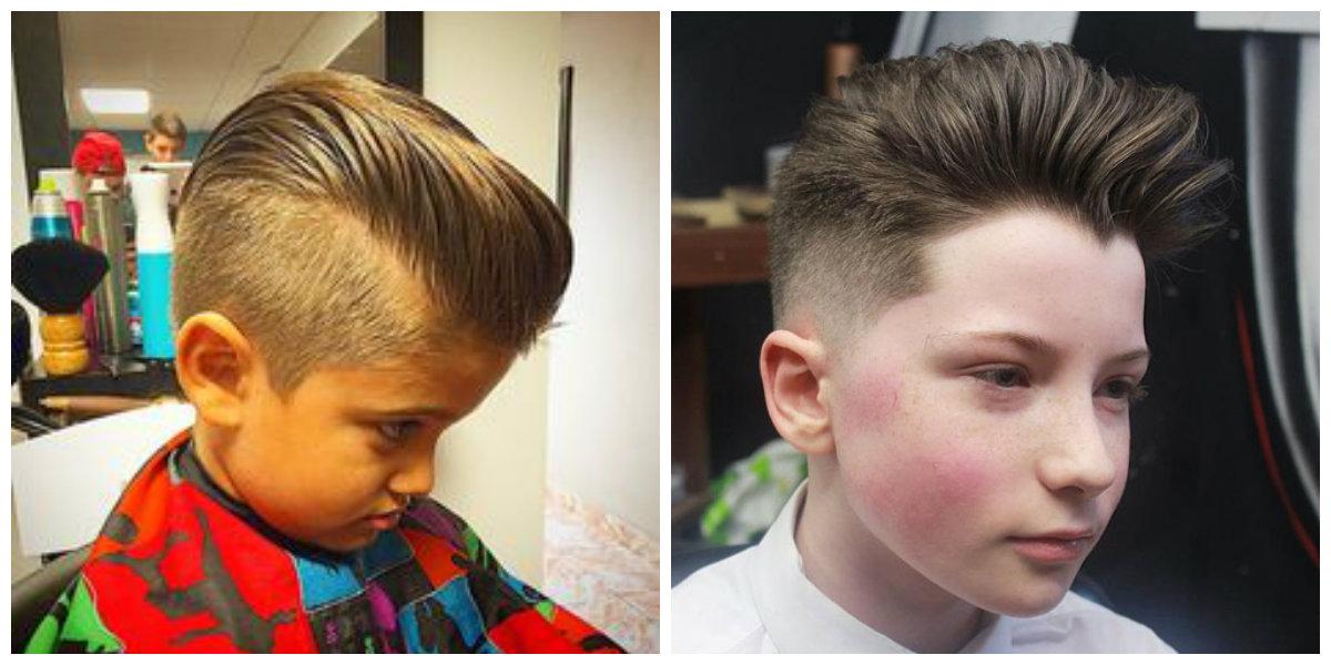 corte de cabelo masculino infantil, degrade pompadour