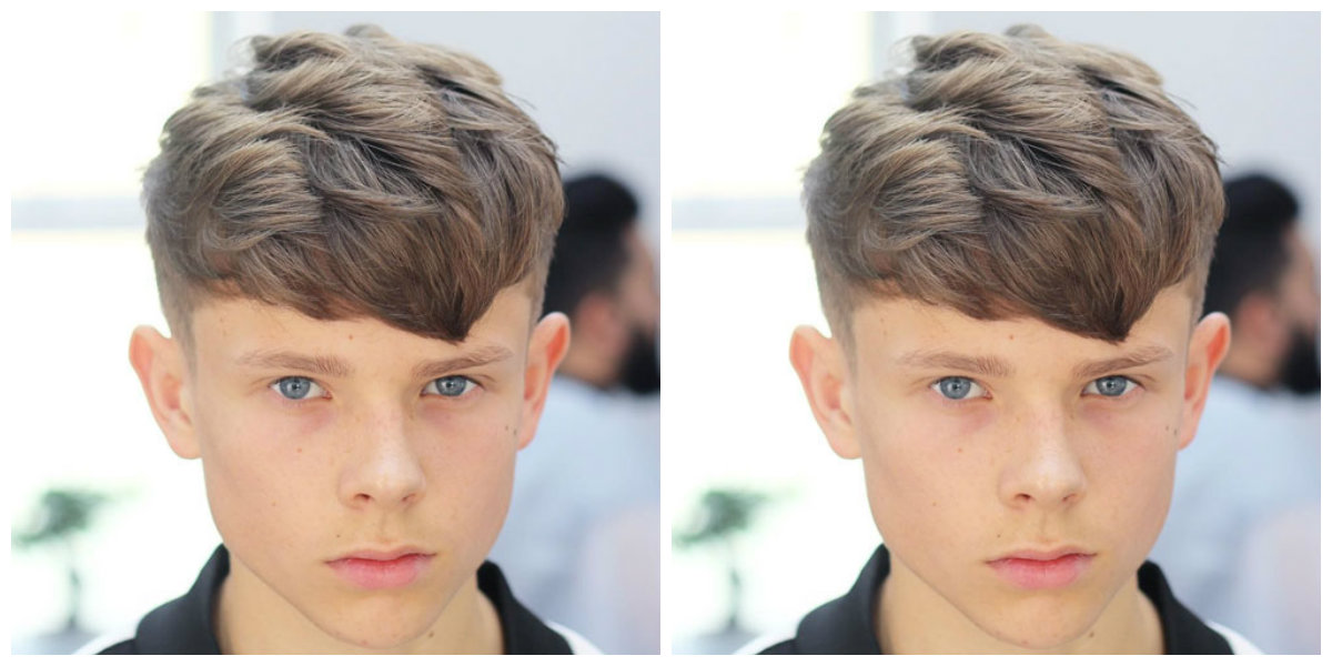 corte de cabelo masculino infantil, franja longa