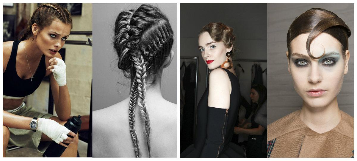 novas tendências de cabelo, estilo retro