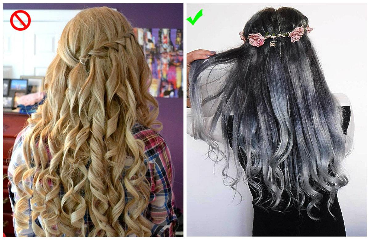 penteados para o Natal, penteados curvadas e estilizadas
