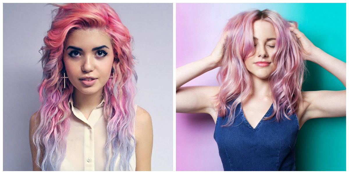 tons de cabelo, cabelo de cores diferentes