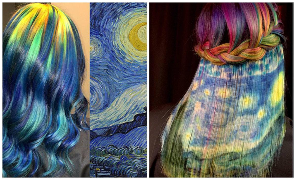 tons de cabelo, pintura impressionista