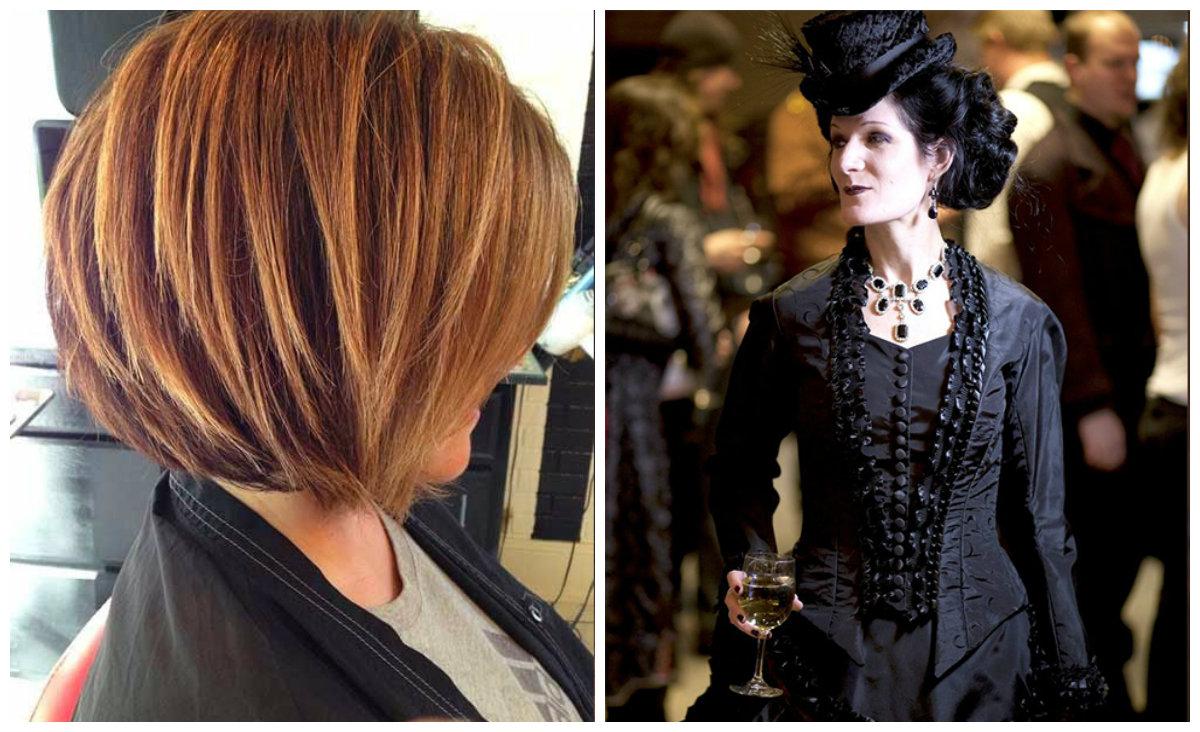 cabelos para senhoras de 50, cabelos com destaques