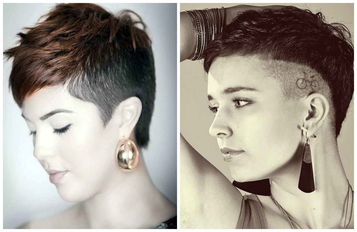 corte de cabelo feminino curto 2018, raspado lateral