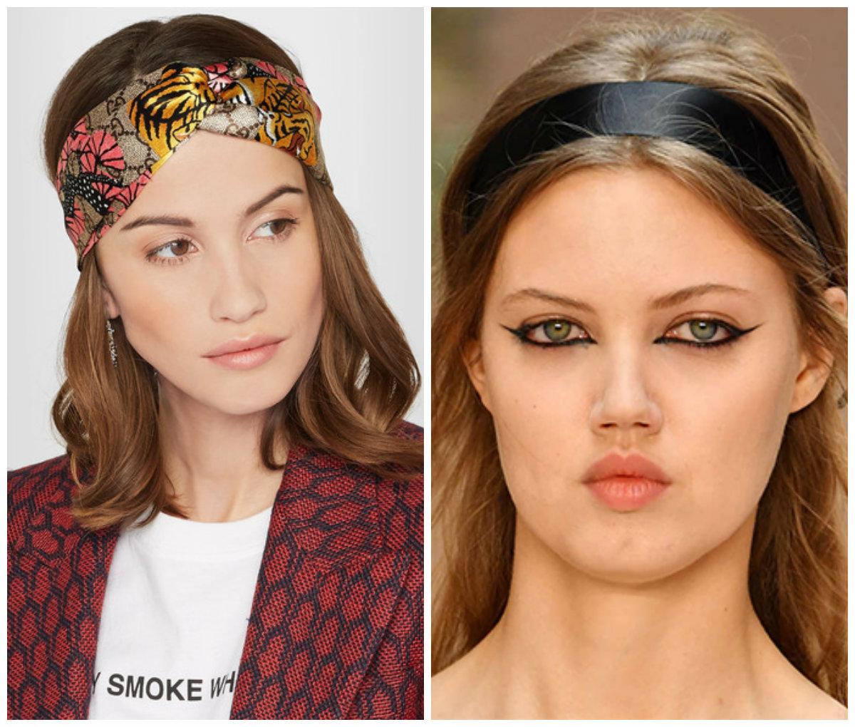 penteados da moda 2018, bandana de satim