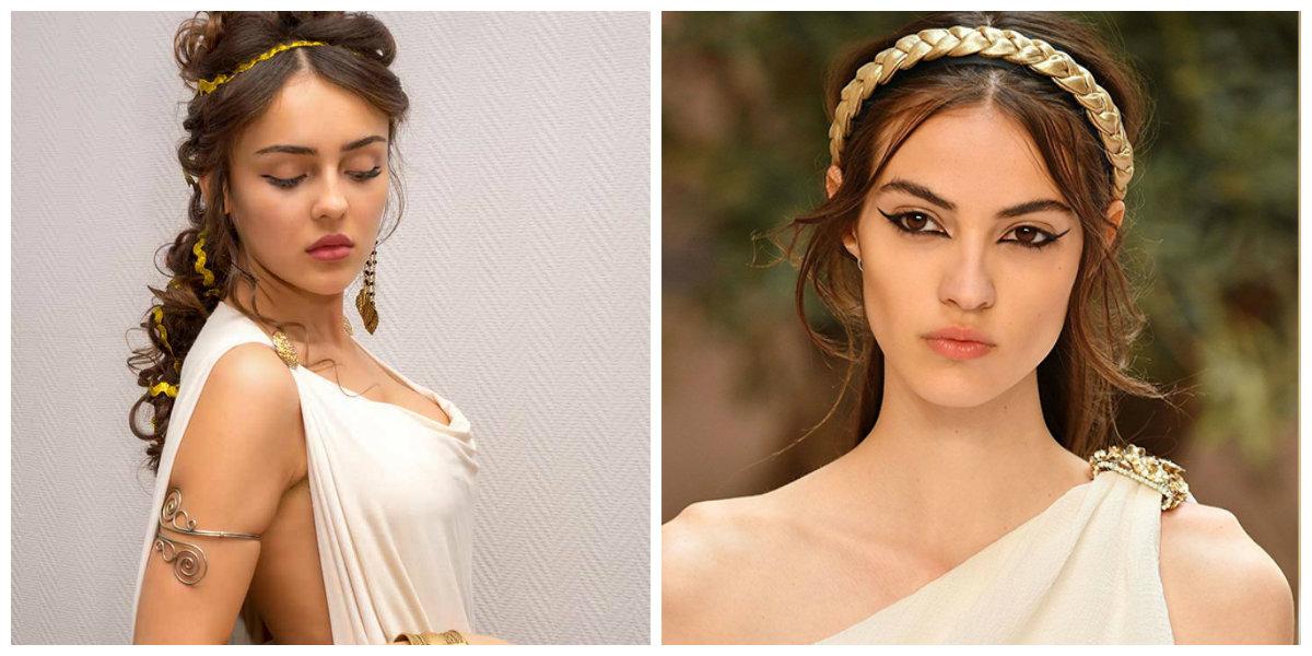 penteados da moda 2018, penteados em motivos gregos